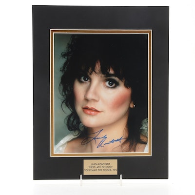 """Linda Ronstadt Signed """"First Lady Of Rock and Top Female Pop Singer 1970s"""" Print"""
