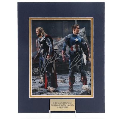 "Chris Hemsworth ""Thor"" and Chris Evans ""Captain America"" Signed Photo Prints"