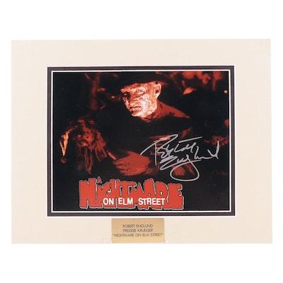 """Robert Englund """"Freddie Krueger"""" Signed """"Nightmare On Elm Street"""" Movie Print"""