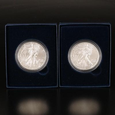 2018 and 2019 $1 Silver Eagle Bullion Coins