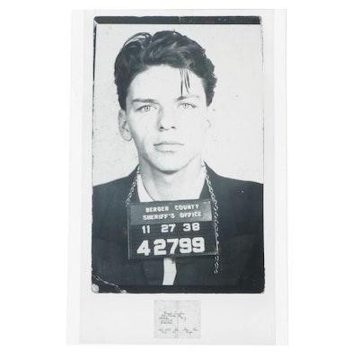 Frank Sinatra Mug Shot Photographic Reprint