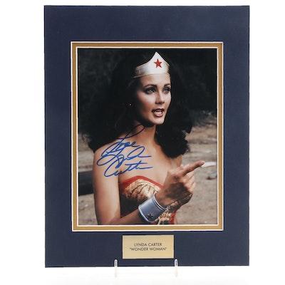 "Lynda Carter Signed ""Wonder Woman"" Super Hero Television Photo Print, COA"