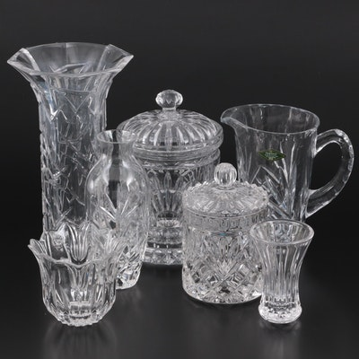 """Marquis by Waterford Crystal """"Ceylon"""" Vase with Other Crystal Decor"""