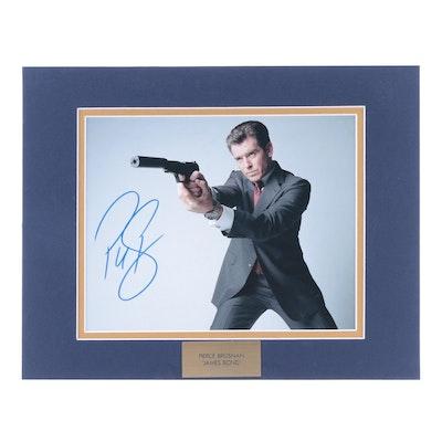 "Pierce Brosnan Signed ""James Bond"" Movie Photo Print, COA"