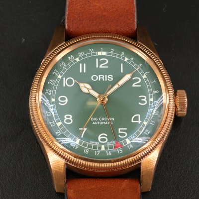 Oris Big Crown Automatic Pointer Date Bronze and Stainless Steel Wristwatch