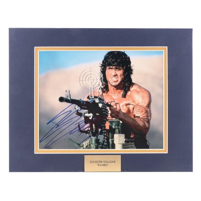 "Sylvester Stallone Signed ""Rambo"" Movie Photo Print, COA"