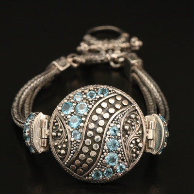 Elisa Ilana Sterling Swiss Blue Topaz Bracelet