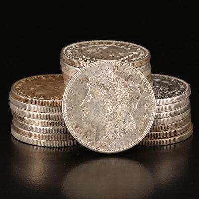 Twenty Morgan Silver Dollars, Including Carson City