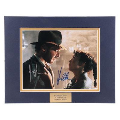 "Harrison Ford and Karen Allen Signed ""Indiana Jones"" Movie Photo Print, COA"