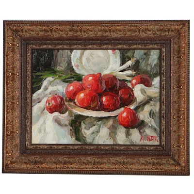Still Life with Pomegranates Oil Painting