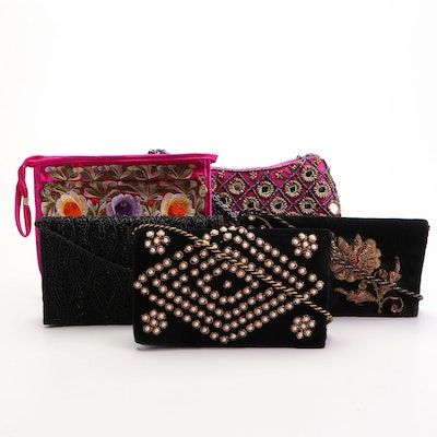 Embroidered and Embellished Shoulder, Tote, and Clutch Bags