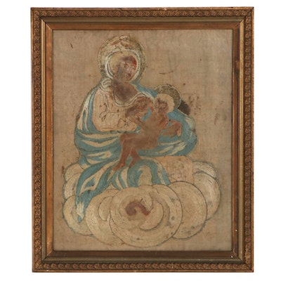 Madonna and Child Embroidery Panel
