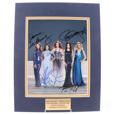 """Delaney, Cross, Longoria, and Others Signed """"Desperate Housewives"""" TV Show Print"""