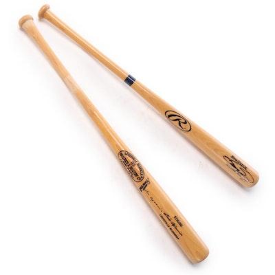 Sammy Sosa and Luis Aparicio Signed Baseball Bats