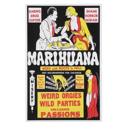 """Giclée After Marijuana Propaganda Film Poster """"Marihuana,"""" 21st Century"""