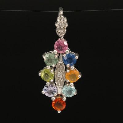 Sterling Gemstone Pendant with Tourmaline