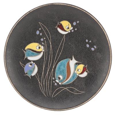 Ruscha Pottery Handmade Ceramic Wall Hanging Plate, Mid 20th Century
