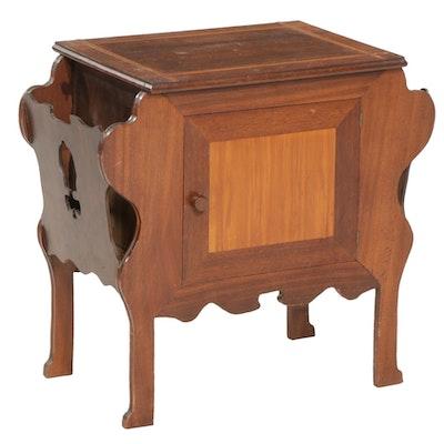 Mahogany Cabinet and Magazine Rack, Mid 20th Centjury