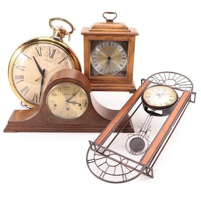 Howard Miller, United, and Hamilton Mantel and Wall Clocks