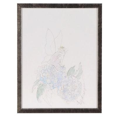 """Restoration Hardware Flower Fairy Giclée """"Hydrangea"""""""