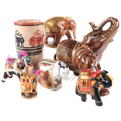 Royal Crown Derby and Other Elephant Figurines