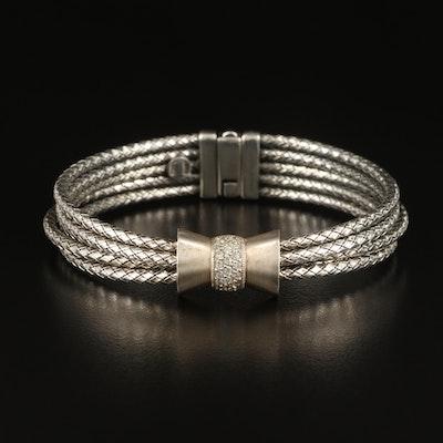 Alisa Sterling Diamond Multi-Strand Bracelet