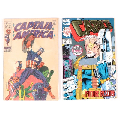 """Bronze and Modern Age Marvel Comics Including """"Captain America"""" and """"Cable"""""""