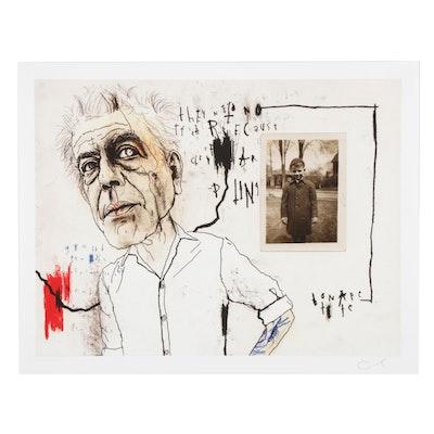 """Lewis Rossignol Giclée """"Bourdain I,"""" 21st Century"""