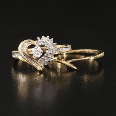 10K 0.25 CTW Diamond Ring Set