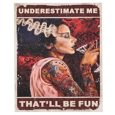 Tattooed Bride of Frankenstein Giclée Poster, 21st Century