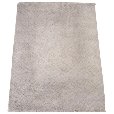 6'7 x 9'1 Hand-Knotted Arhaus Furniture Rug Collection Indian Area Rug