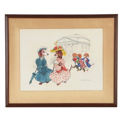 Constance Depler Gouache and Ink Illustration