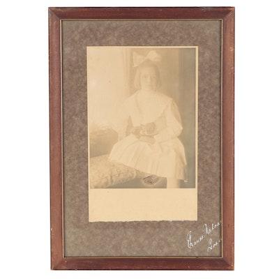 Silver Gelatin Portrait Photograph of Girl