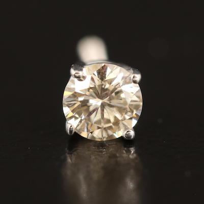 14K 0.22 CT Diamond Single Stud Earring