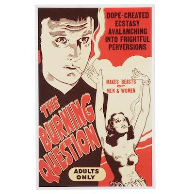"Giclée After Marijuana Propaganda Film Poster ""The Burning Question"""