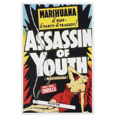 "Giclée After Marijuana Propaganda Film Poster ""Assassin of Youth,"" 21st Century"