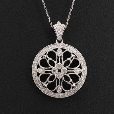 "14K 0.46 CTW Diamond ""Stained Glass Window"" Pendant Necklace"