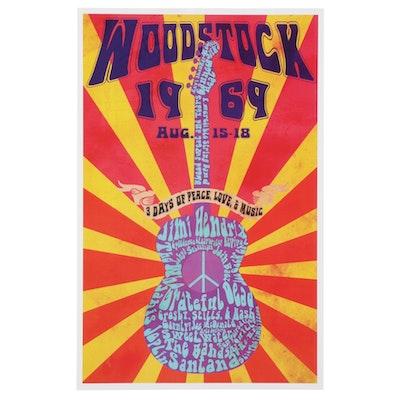 Woodstock 1969 Music Festival Homage Giclée, 21st Century