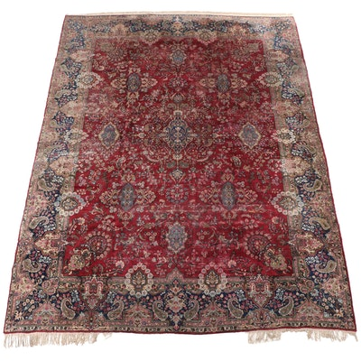 10' x 13'8 Hand-Knotted Indian Kashmir Room Sized Rug