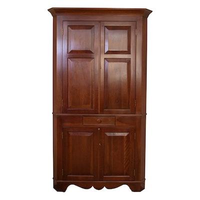 Cassady Furniture Co. Federal Style Cherry Corner Cabinet