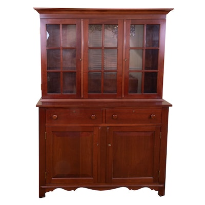 Cassady Furniture Co. Late Federal Style Cherry China Cabinet Hutch