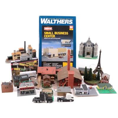 Walthers, Atlas, Other HO, N Scale Model Railway Buildings