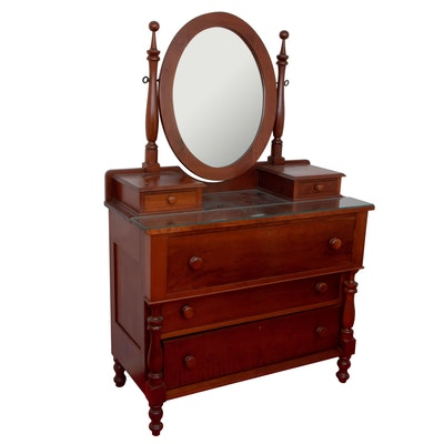 Late Federal Style Cherry Dresser with Glove Boxes