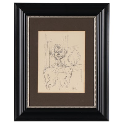 """Alberto Giacometti Lithograph From """"Lithography at Mourlot Printing Press"""""""