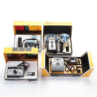 Kodak Brownie Fiesta, Starflex Camera Outfits, Instamatic X-15 and 104 Cameras