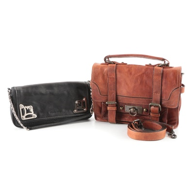 Frye Leather Cameron Satchel and MICHAEL Michael Kors Leather Front Flap Bag