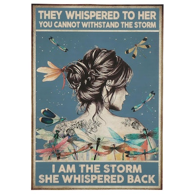 Giclée Poster of Woman and Dragonflies, 21st Century