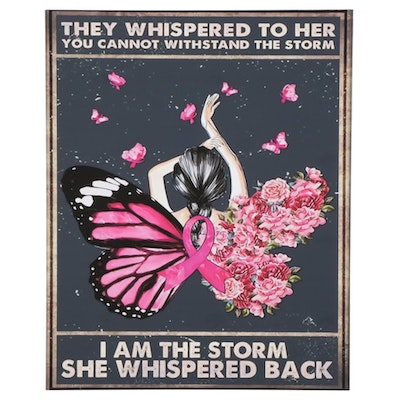 Breast Cancer Ribbon Giclée Poster, 21st Century