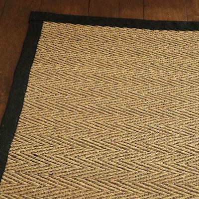 12'10 x 16'6 Machine Made Sisal Flat Weave Room Sized Rug