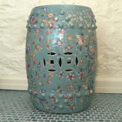 Chinese Porcelain Garden Stool, 20th Century